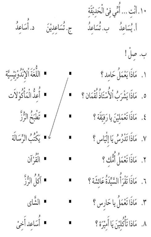 percakapan bahasa arab tsanawiyah - min yaumiyyaatil ustrati -aktifitas keluarga sehari-hari10