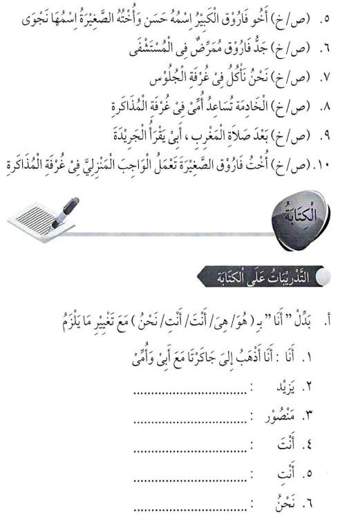 percakapan bahasa arab tsanawiyah - min yaumiyyaatil ustrati -aktifitas keluarga sehari-hari13
