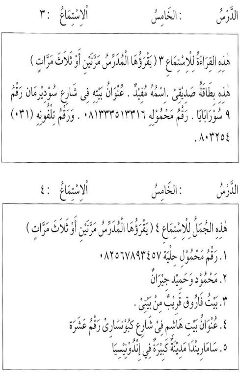 percakapan bahasa arab tsanawiyah - min yaumiyyaatil ustrati -aktifitas keluarga sehari-hari25