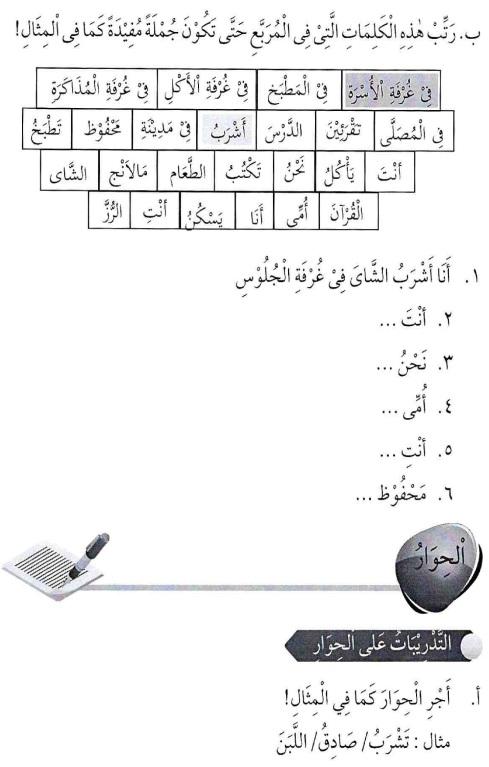 percakapan bahasa arab tsanawiyah - min yaumiyyaatil ustrati -aktifitas keluarga sehari-hari4