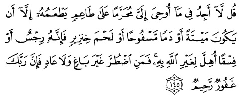 tulisan arab alquran surat al an'am ayat 145
