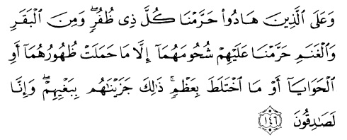 tulisan arab alquran surat al an'am ayat 146