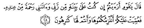 tulisan arab alquran surat huud ayat 28