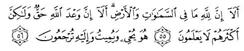 tulisan arab alquran surat yunus ayat 55-56