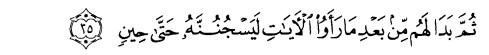 tulisan arab alquran surat yusuf ayat 35