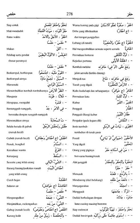 278. kamus arab almunawir -hafaza-hafadla