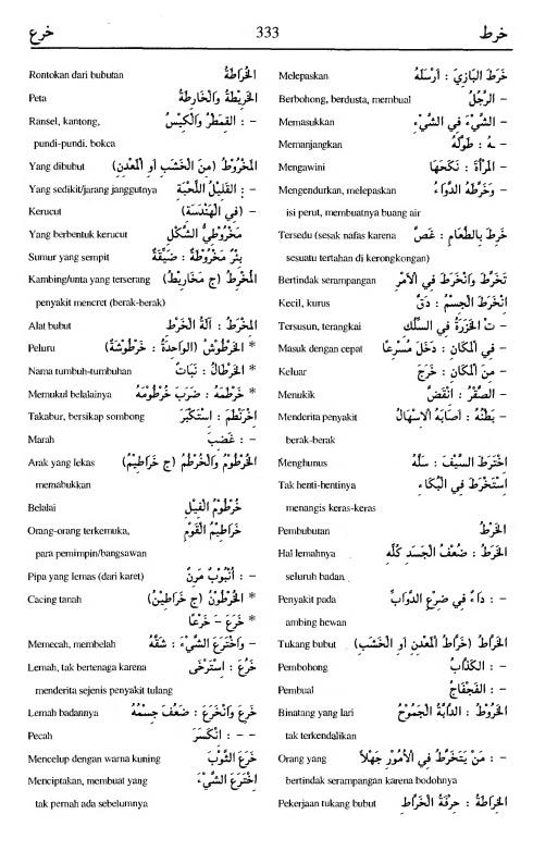 333. Kamus Bahasa Arab Al-Munawir - kharatha-khara'a