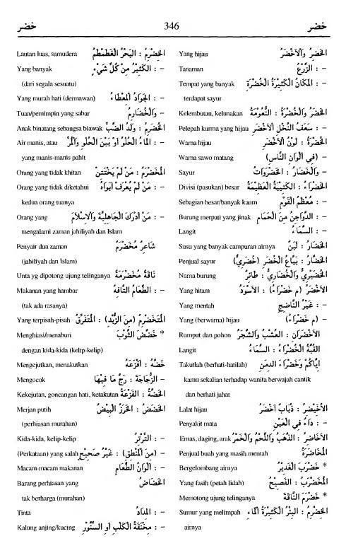 346. Kamus Bahasa Arab Al-Munawir - khadlara-khadlara