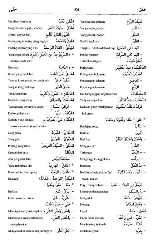 356. Kamus Bahasa Arab Al-Munawir - khafaqa-khafaa