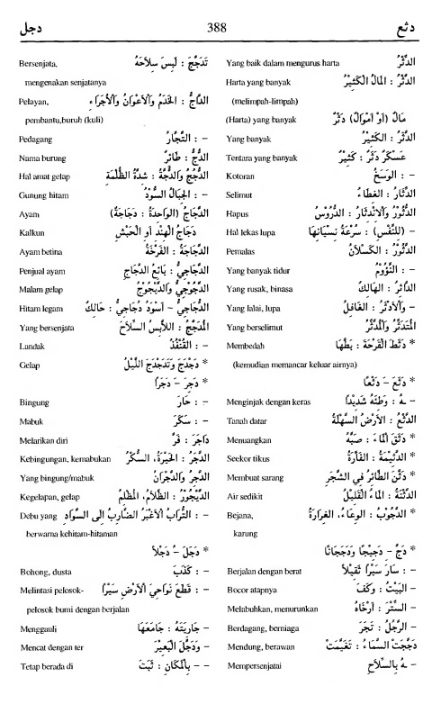 388. Kamus Bahasa Arab Al-Munawir - datsa'a-dajala