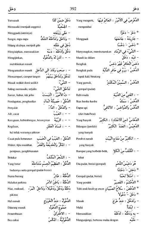 392. Kamus Bahasa Arab Al-Munawir - dakhaza-dakhala