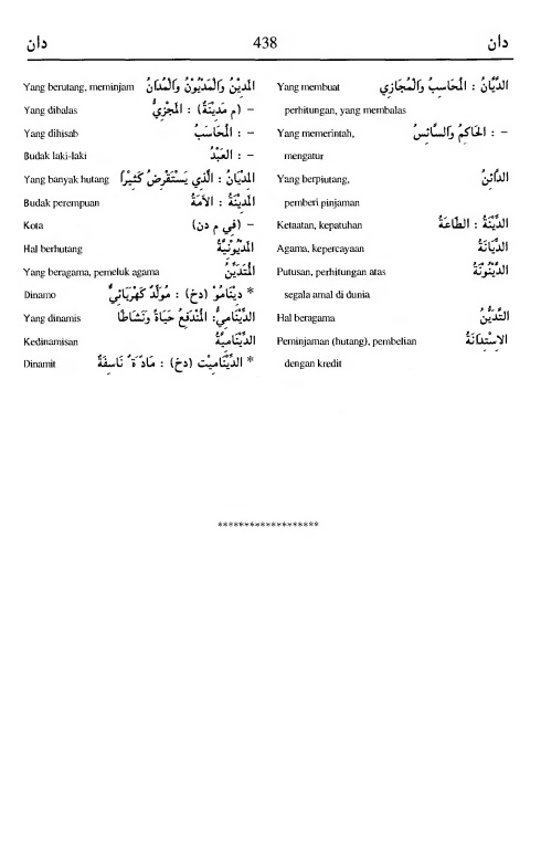 438. Kamus Bahasa Arab Al-Munawir - daana-daana