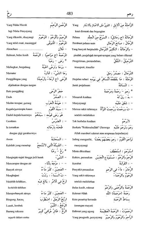 483. Kamus Bahasa Arab Al-Munawir - rahama-rakhkha