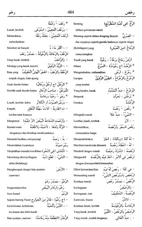 484. Kamus Bahasa Arab Al-Munawir - rakhasha-rakhama