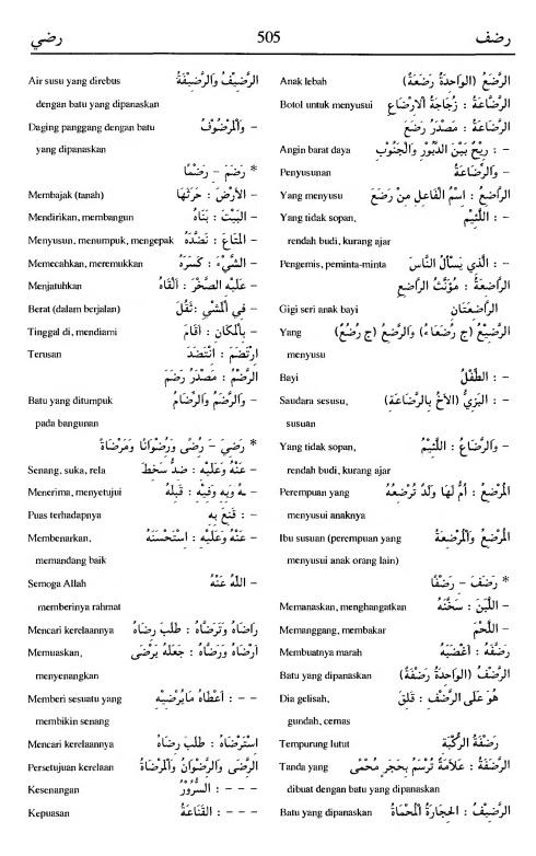 505. Kamus Bahasa Arab Al-Munawir - radlafa-radliya