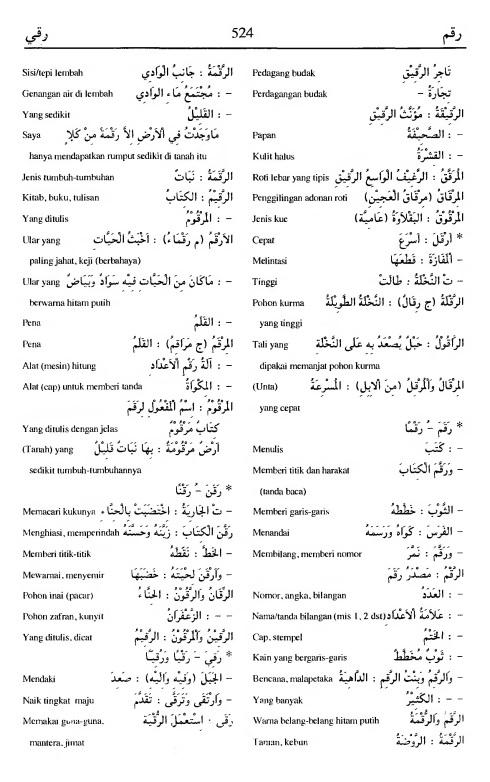 524. Kamus Bahasa Arab Al-Munawir - raqama-raqaya