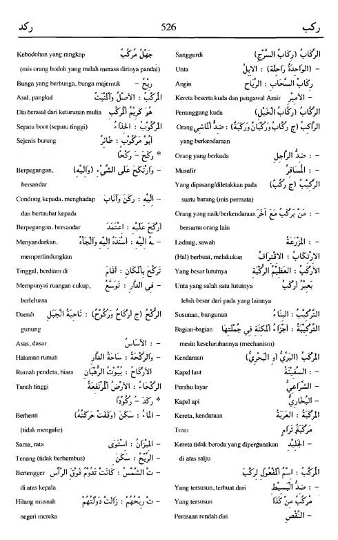 526. Kamus Bahasa Arab Al-Munawir - rakiba-rakada