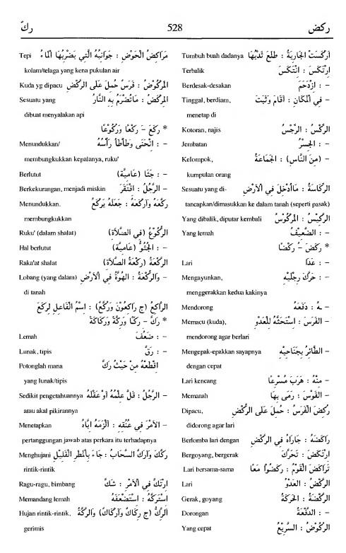 528. Kamus Bahasa Arab Al-Munawir - rakadla-rakka