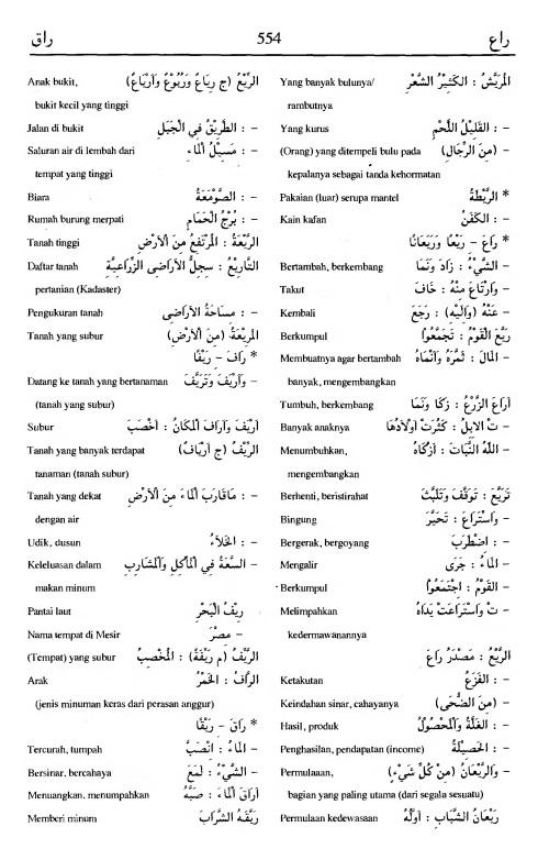 554. Kamus Bahasa Arab Al-Munawir - raa'a-raaqa