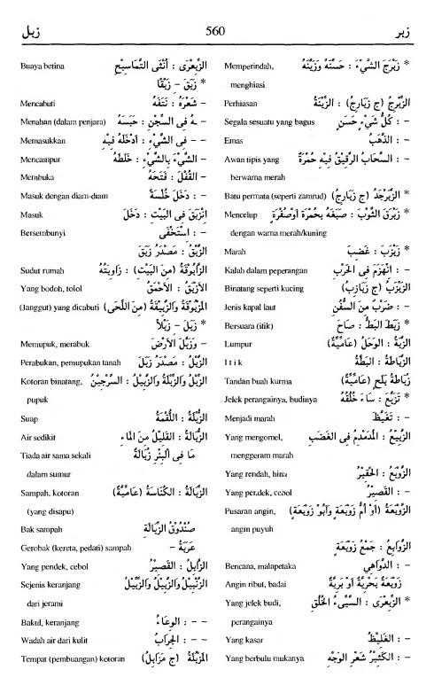 560. Kamus Bahasa Arab Al-Munawir - zabara-zabala