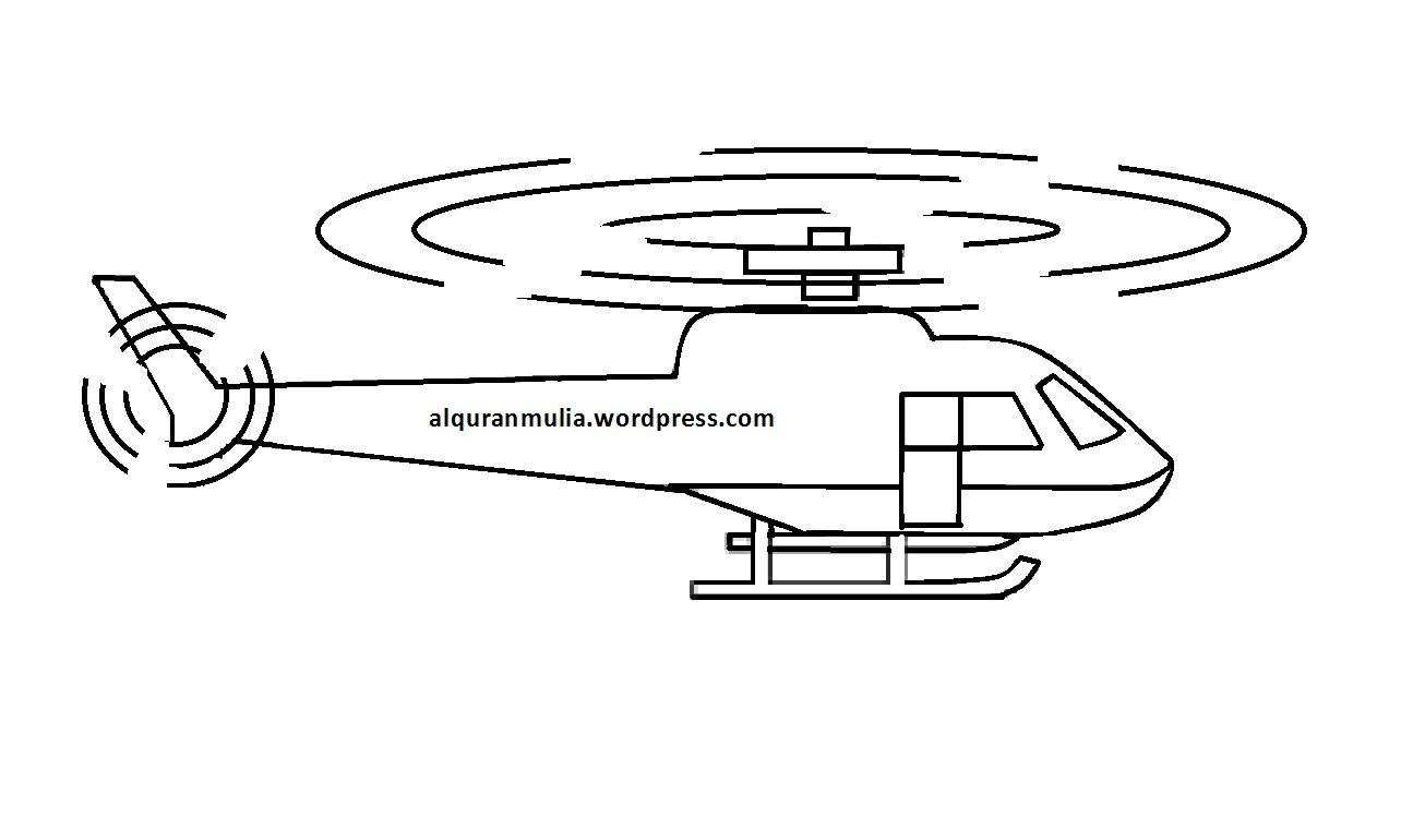 Gambar Kartun Helikopter
