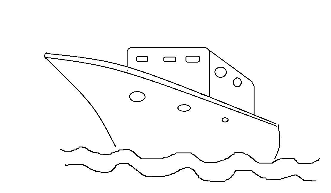 Mewarnai Gambar Kapal Laut2 Anak Muslim Alquranmulia
