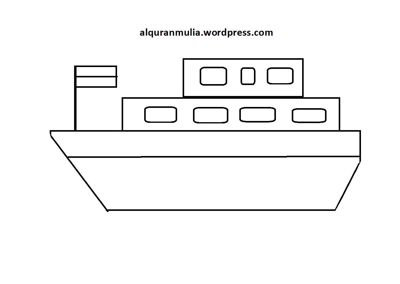 Mewarnai Gambar Kapal Laut3 Anak Muslim Alqur Anmulia