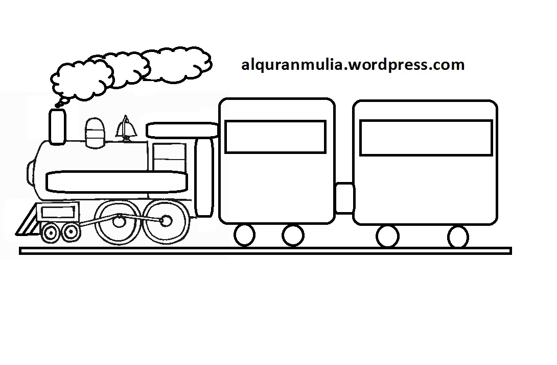 Group Of Mewarnai Gambar Kereta Api
