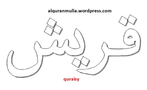 mewarnai gambar tulisan surah quraisy anak muslim