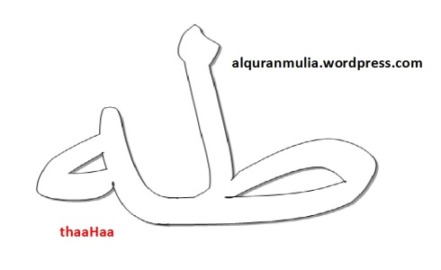 mewarnai gambar tulisan surah thaaHaa anak muslim