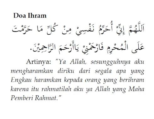 Doa Ihram