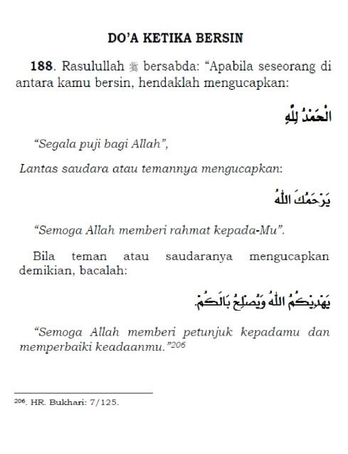 doa ketika bersin