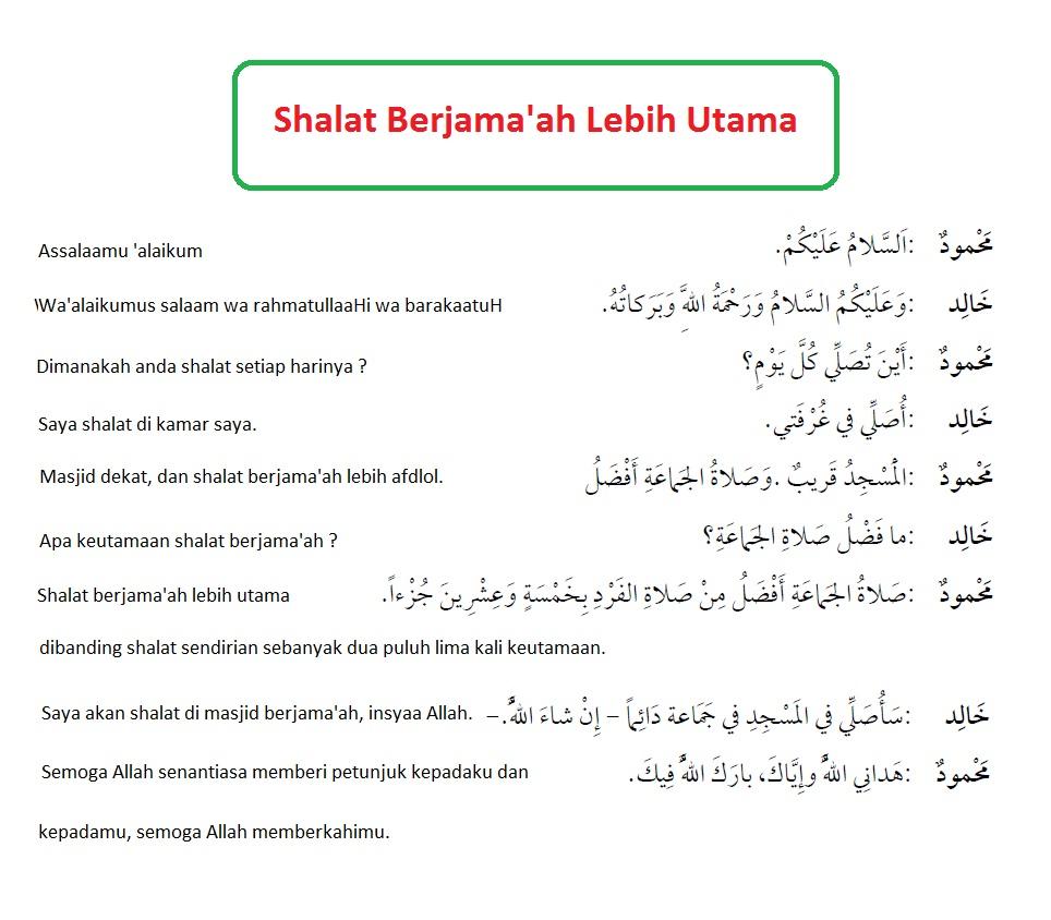 Contoh Dakwah Singkat Bahasa Arab