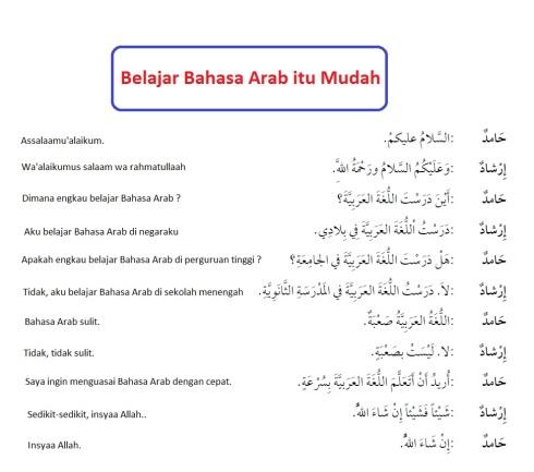 Hiwar, percakapan bahasa arab, belajar bahasa arab itu mudah