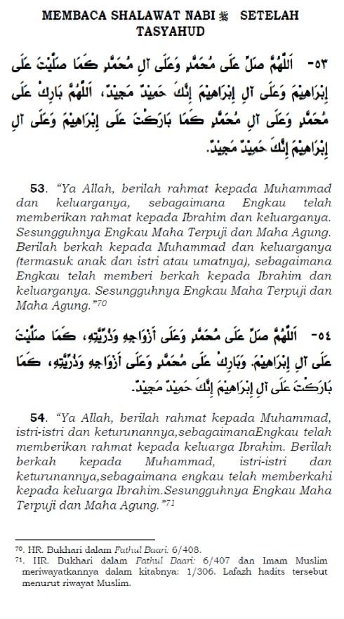 membaca shalawat nabi setelah tasyahud