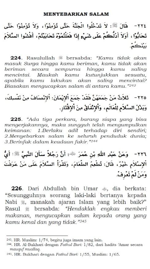 menyebarkan salam