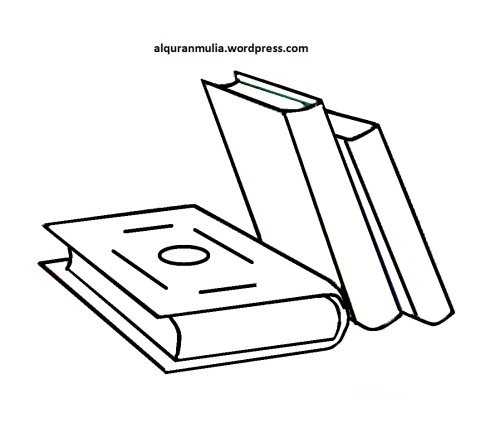 Mewarnai gambar buku anak muslim