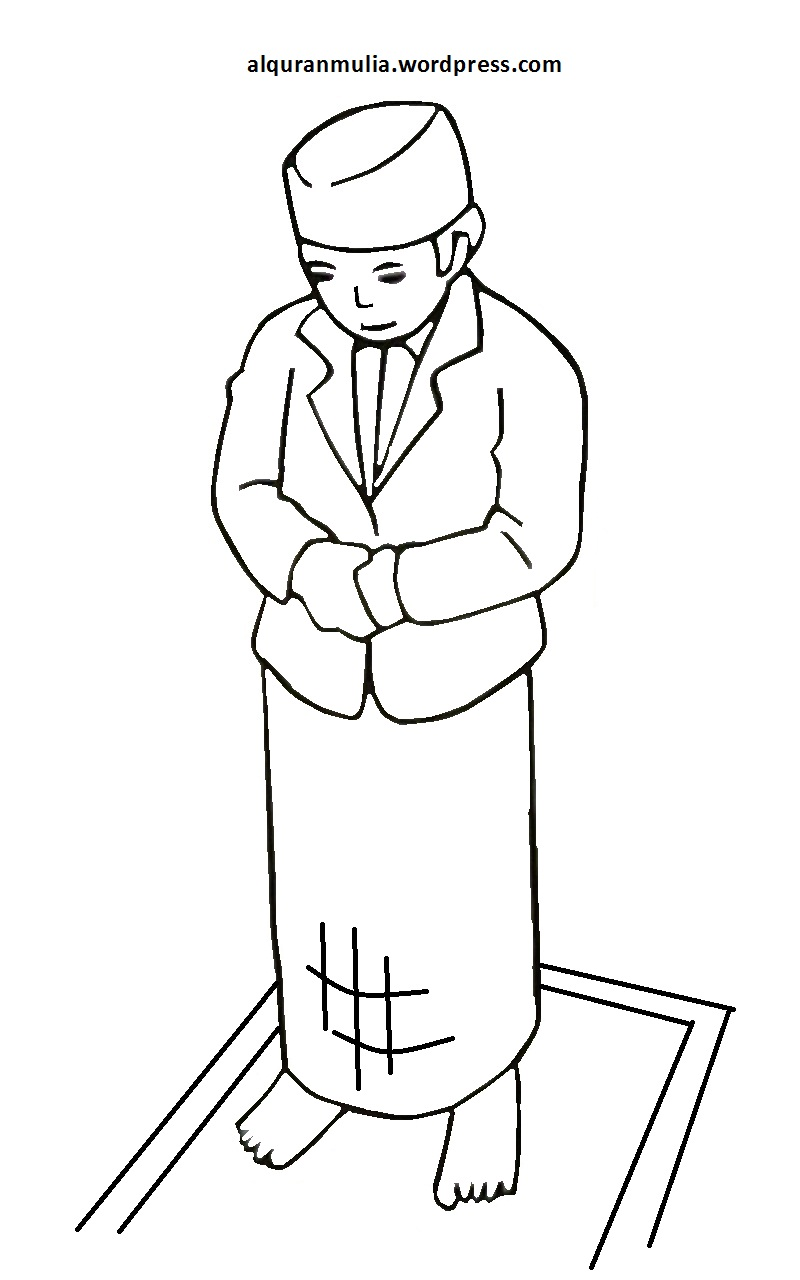 Mewarnai Gambar Kartun Anak Muslim 35 Alqur Anmulia