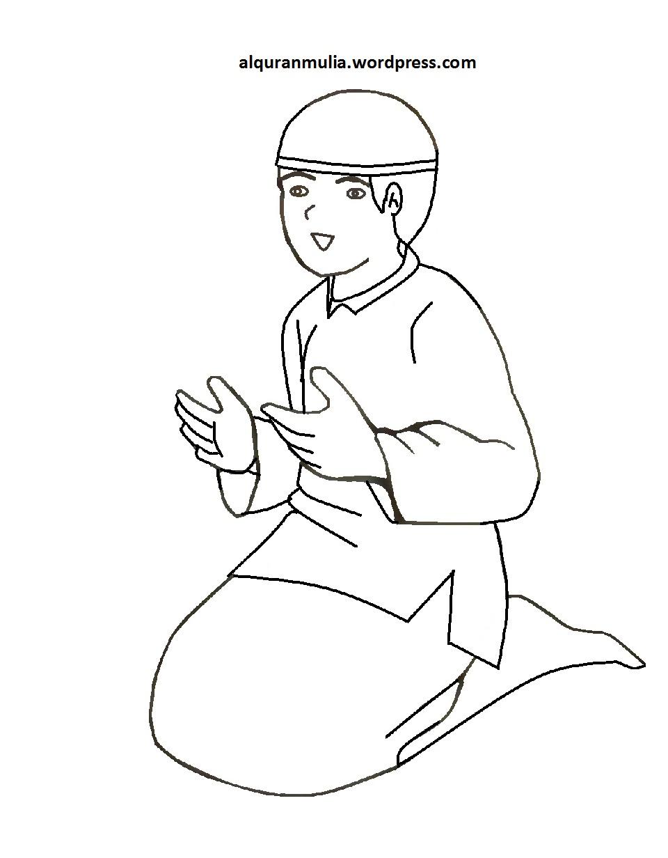 Gambar Kartun Orang Lagi Berdoa