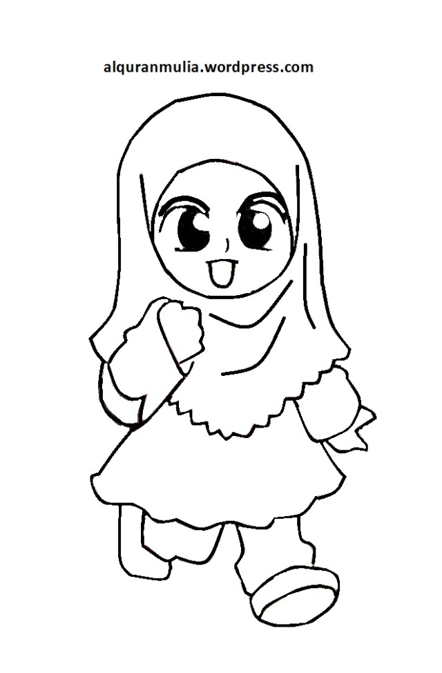 Gambar Perempuan Kartun Hitam Putih
