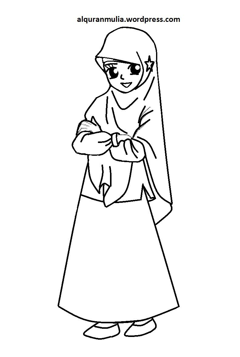 Baru 30 Gambar Kartun Anak Muslim Mewarnai Kumpulan Gambar Kartun