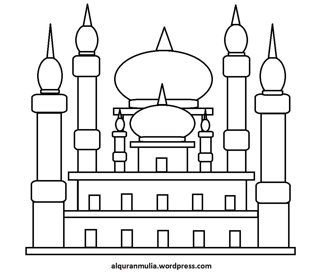 11 Mewarnai Gambar Anak Mengaji Di Masjid Terpopuler Lingkar Png