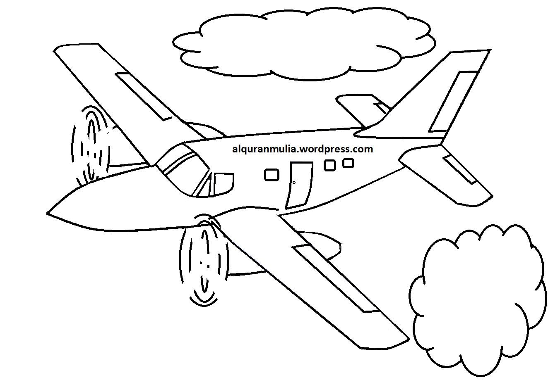 Contoh Gambar Kartun Pesawat  Bestkartun