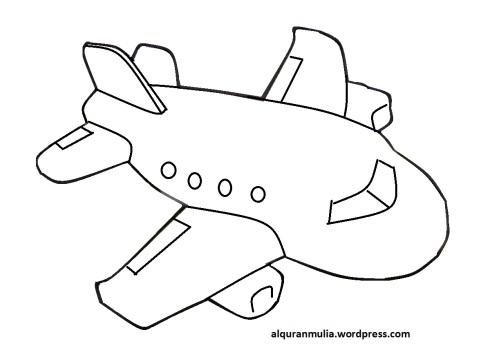Mewarnai gambar pesawat terbang22 anak muslim