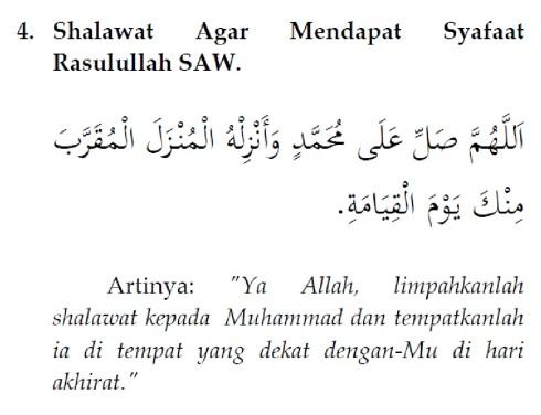 shalawat agar mendapat safaat Rasulullah saw.