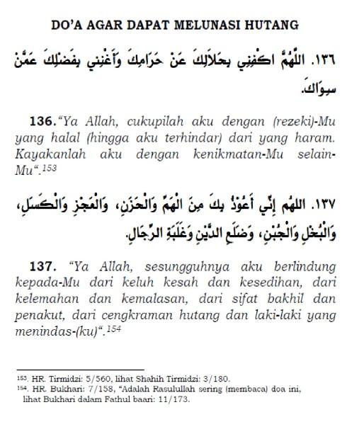 doa agar dapat melunasi hutang