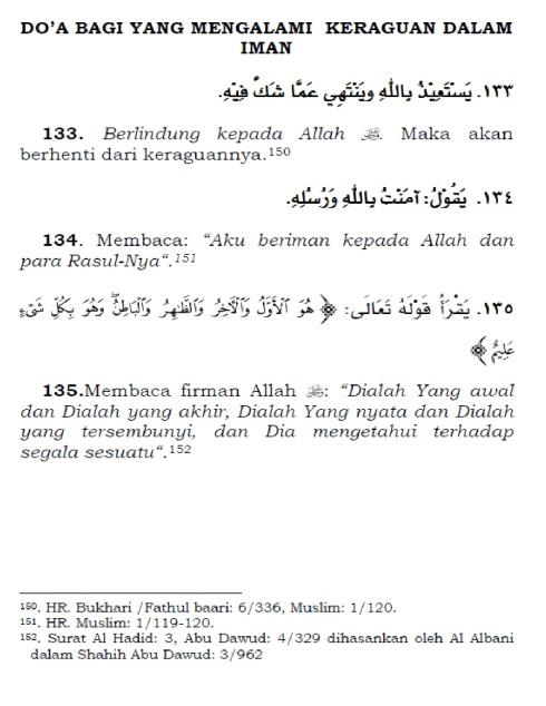doa bagi yang mengalami keraguan dalam iman