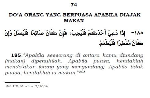 doa orang yang berpuasa apabila diajak makan
