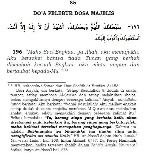 doa pelebur dosa majelis