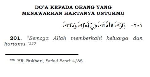 doa untuk orang yang menawarkan hartanya untukmu